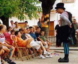 Un espectacle infantil a l'aire lliure