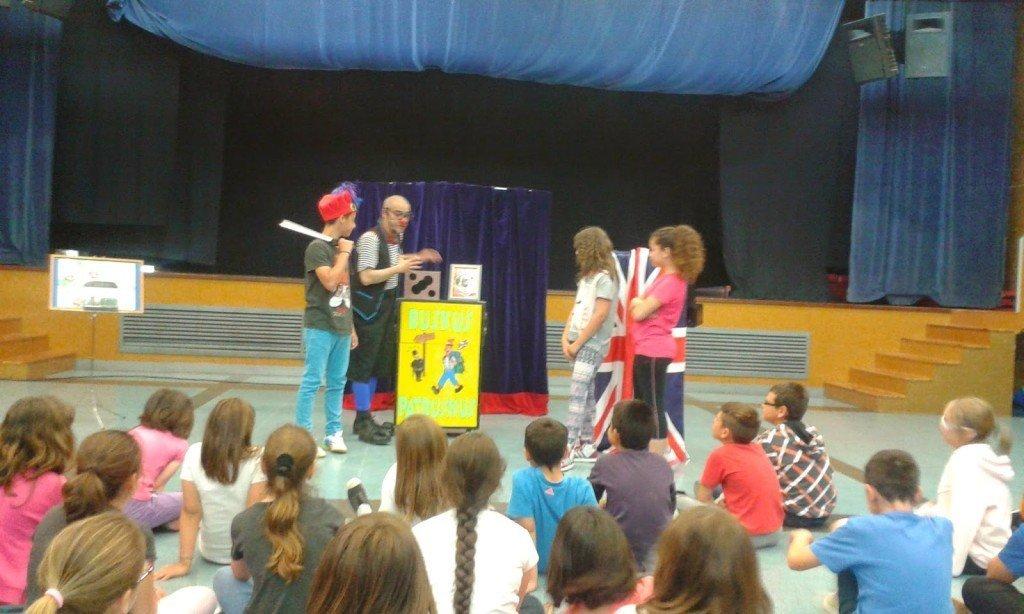 Escena de Clowning, un dels espectacles infantils de Ruskus Patruskus