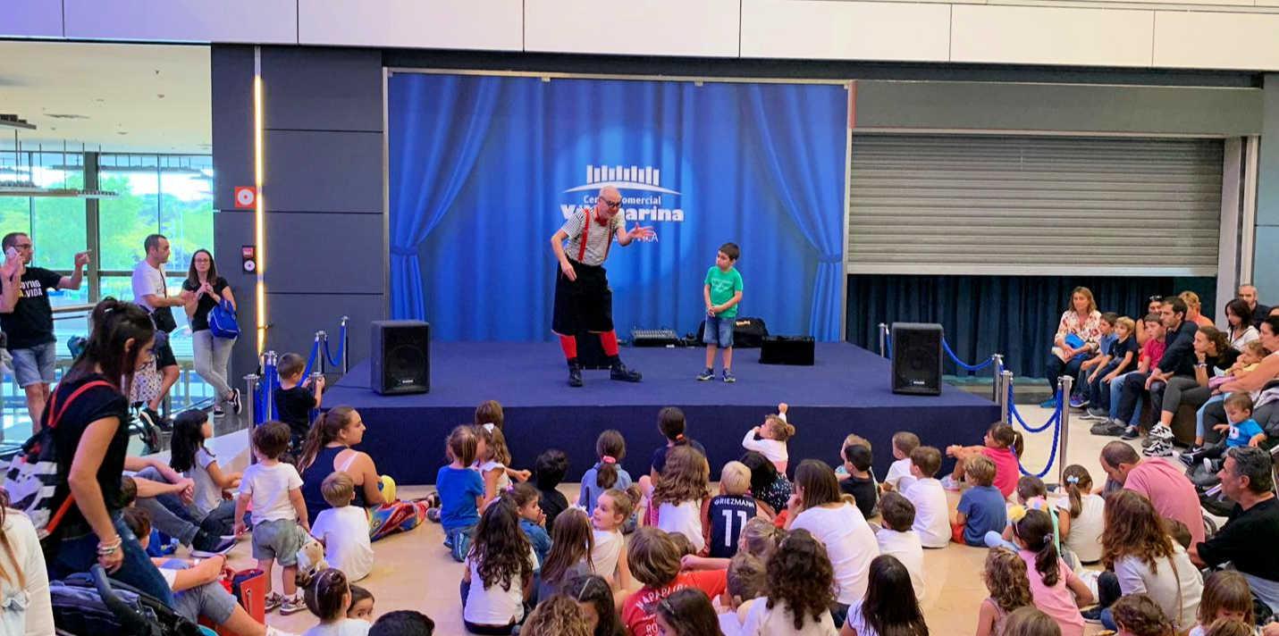 Animación infantil en el Centro Comercial Vilamarina de Viladecans
